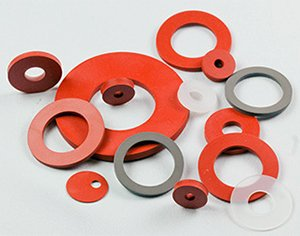 Silicone-rubber-washers